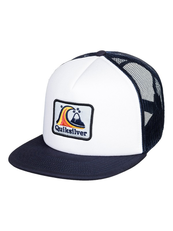 0 Boy's 8-16 Butter Bill Trucker Cap White AQBHA03365 Quiksilver