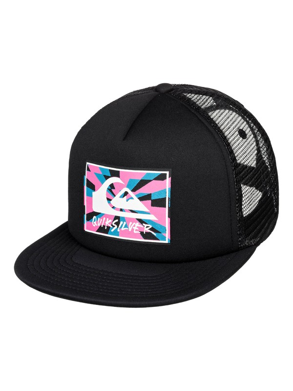 0 Just For Kicks Trucker Hat Black AQBHA03374 Quiksilver