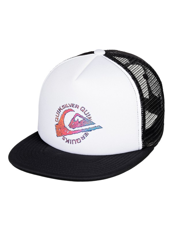 0 Just For Kicks Trucker Hat White AQBHA03374 Quiksilver