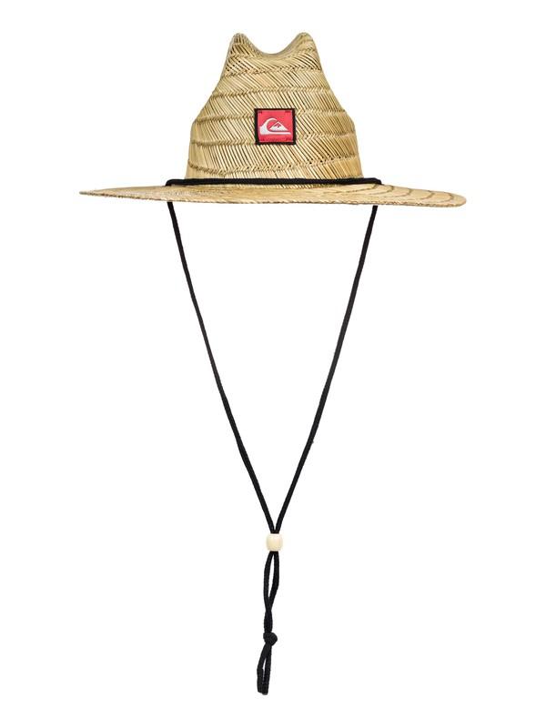 0 Boy's 8-16 Pierside Straw Lifeguard Hat Brown AQBHA03379 Quiksilver