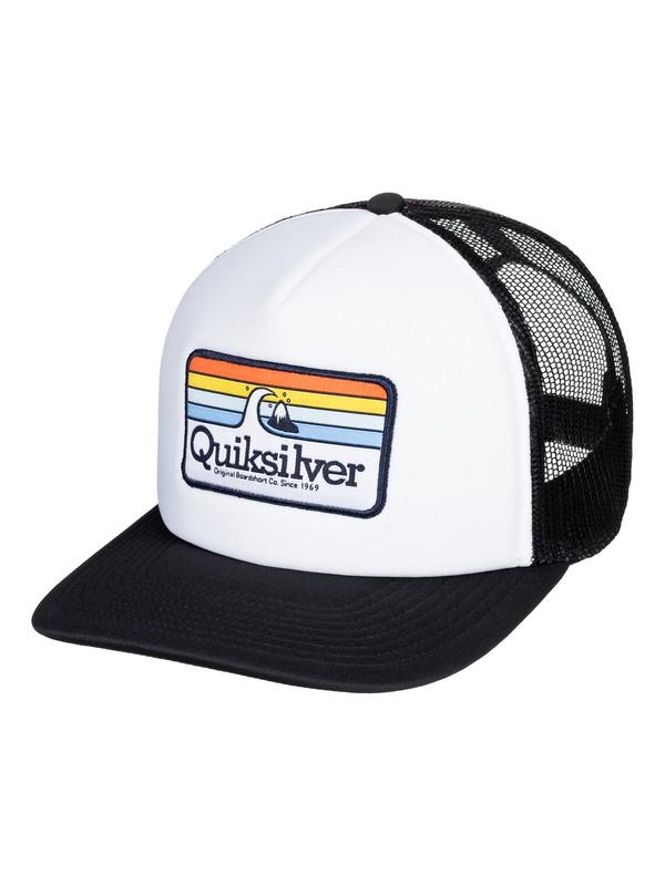 0 Boy's 8-16 Hessford Trucker Hat White AQBHA03384 Quiksilver