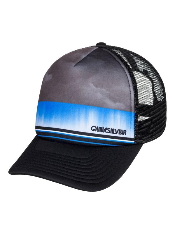 0 Boy's 8-16 Slab Dripper Trucker Hat Black AQBHA03388 Quiksilver