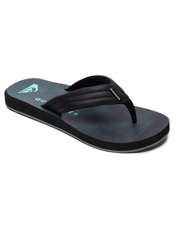 0 Boy's 8-16 Carver Print Sandals Black AQBL100269 Quiksilver