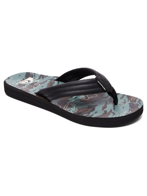 0 Boy's 8-16 Carver Print Sandals Multicolor AQBL100269 Quiksilver
