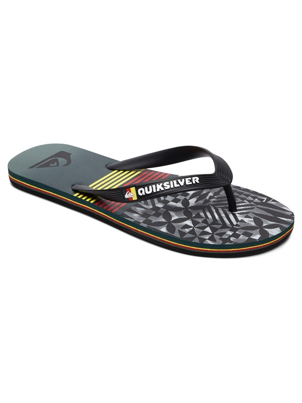 0 Boy's 8-16 Molokai Highline Division Flip-Flops  AQBL100272 Quiksilver