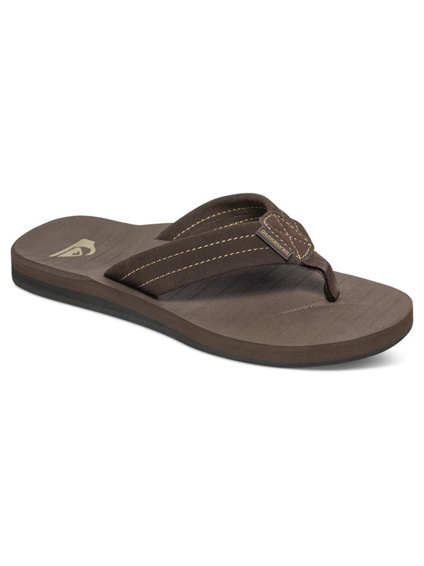 0 Carver Suede Leather Sandals Brown AQBL100275 Quiksilver