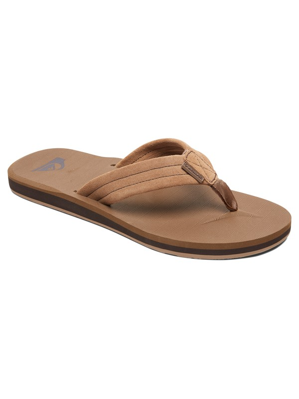 0 Boy's 8-16 Carver Suede Leather Sandals Beige AQBL100275 Quiksilver