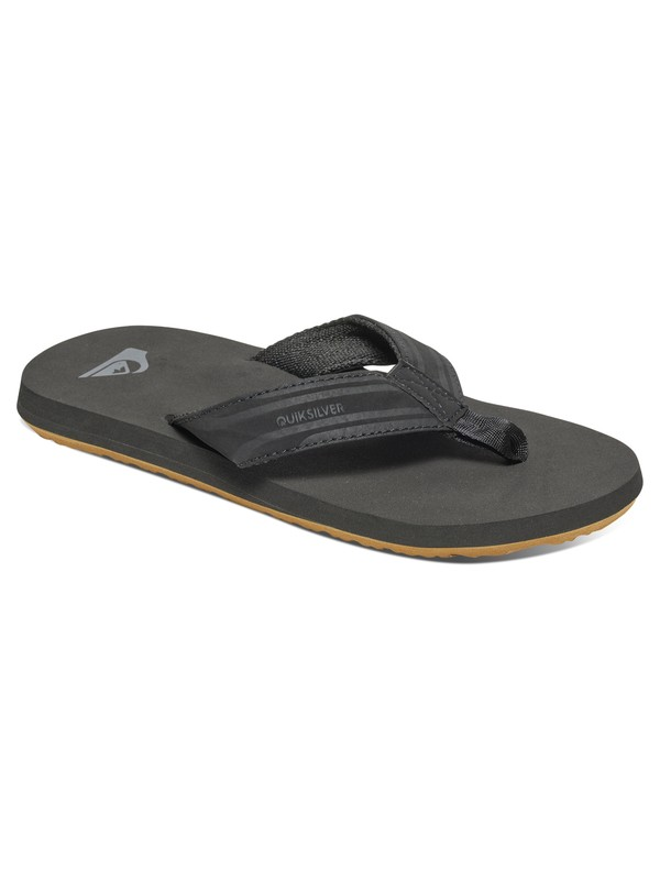 0 Boy's 8-16 Monkey Wrench Sandals Black AQBL100276 Quiksilver