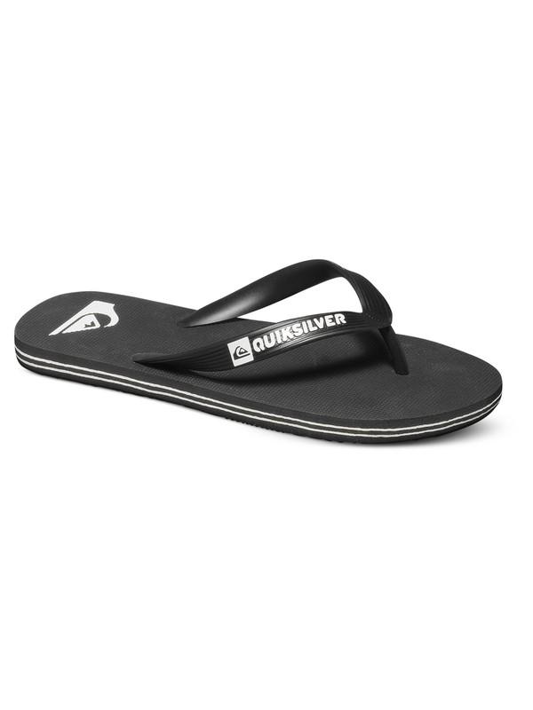 0 Boy's 8-16 Molokai Flip-Flops Black AQBL100277 Quiksilver