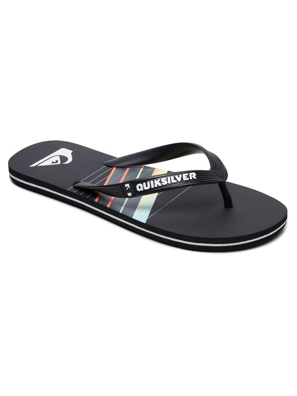 0 Boy's 8-16 Molokai Core Slash Flip-Flops Black AQBL100299 Quiksilver