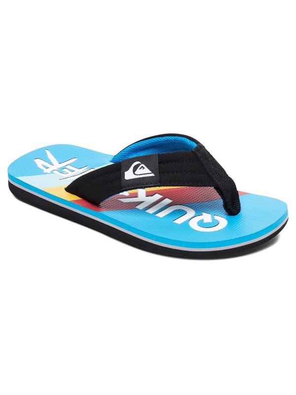 0 Boy's 8-16 Molokai Layback Flip-Flops Black AQBL100302 Quiksilver