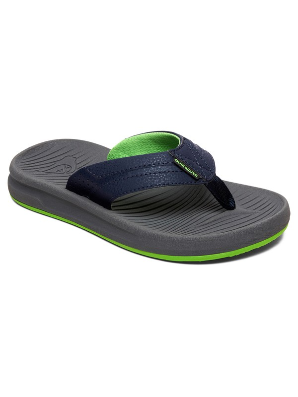 0 Boy's 8-16 Oasis Sandals Blue AQBL100336 Quiksilver