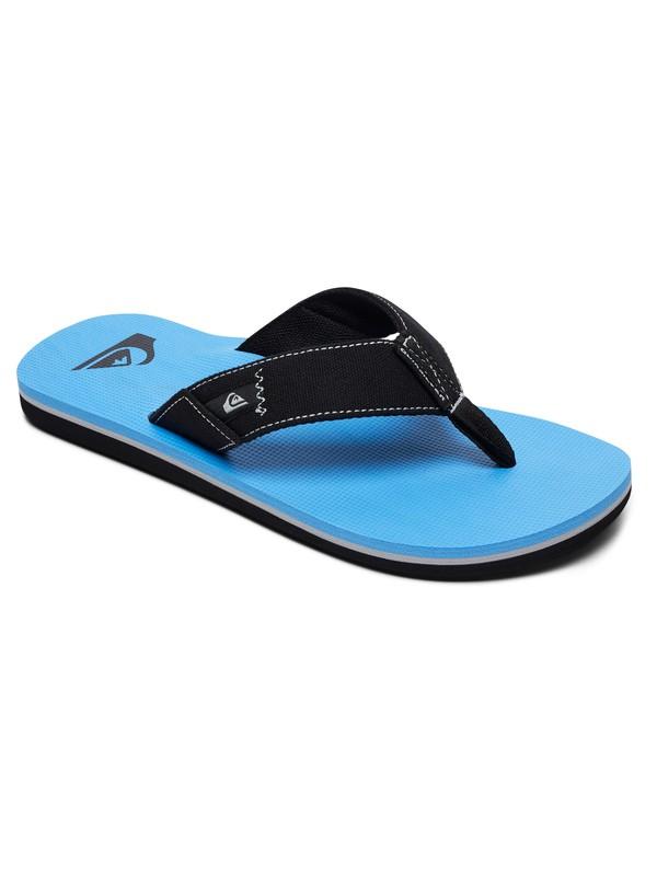 0 Boy's 8-16 Molokai Abyss Sandals Black AQBL100360 Quiksilver