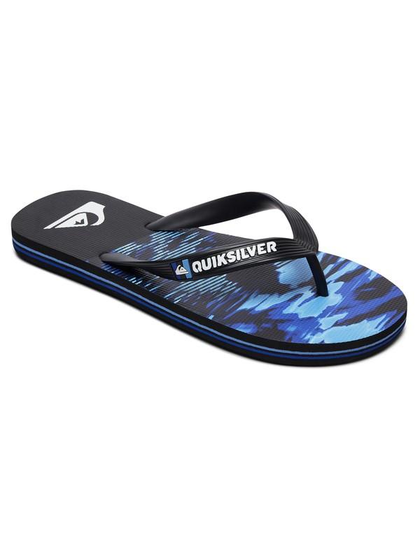 0 Boy's 8-16 Molokai Night Marcher Flip-Flops Black AQBL100362 Quiksilver