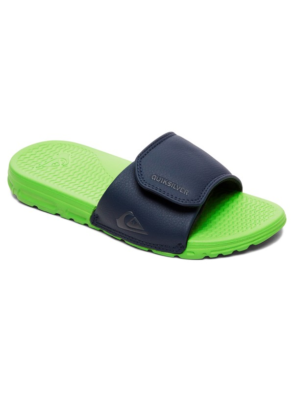 0 Boy's 8-16 Shoreline Adjust Slider Sandals Blue AQBL100397 Quiksilver