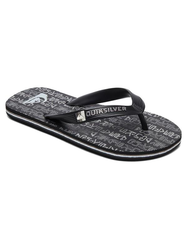 0 Boy's 8-16 Molokai Random Flip Flops Black AQBL100401 Quiksilver