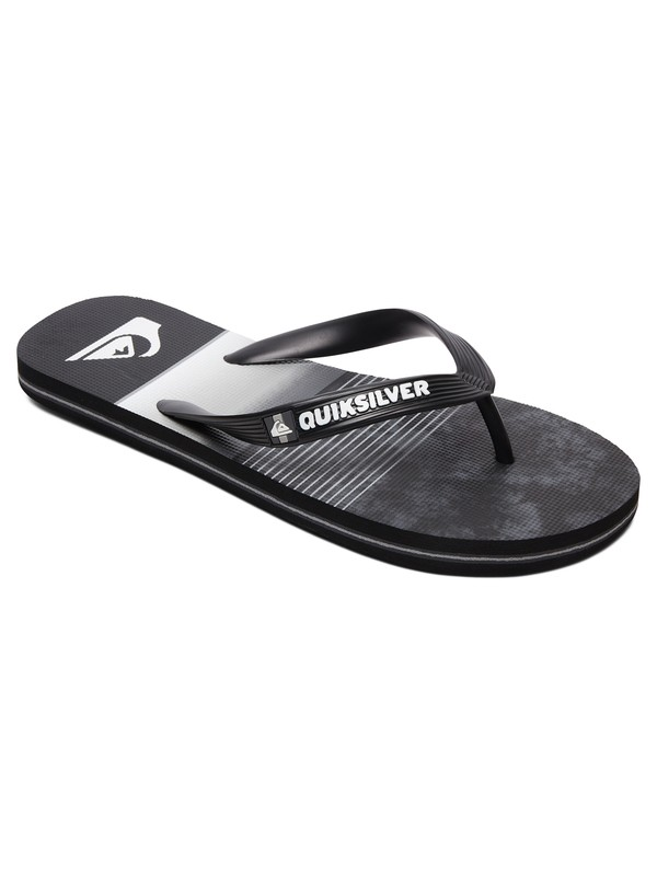 0 Boy's 8-16 Molokai Slab Flip Flops Black AQBL100402 Quiksilver