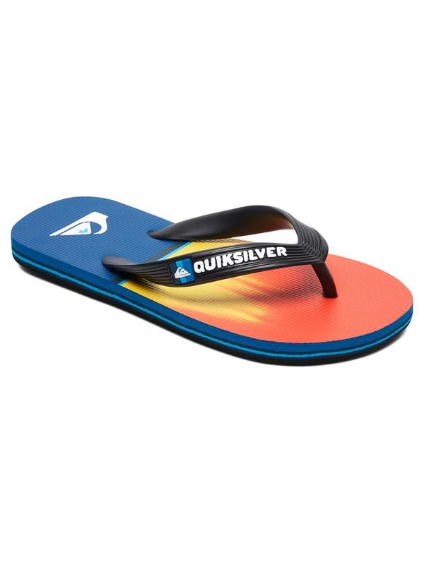 0 Boy's 8-16 Molokai Division Flip Flops Multicolor AQBL100403 Quiksilver