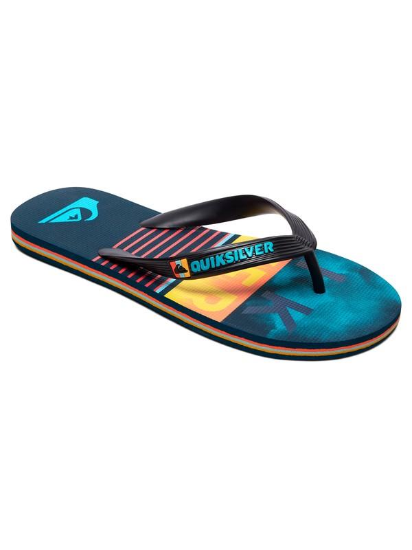 0 Boy's 8-16 Molokai Swell Vision Flip-Flops Black AQBL100433 Quiksilver