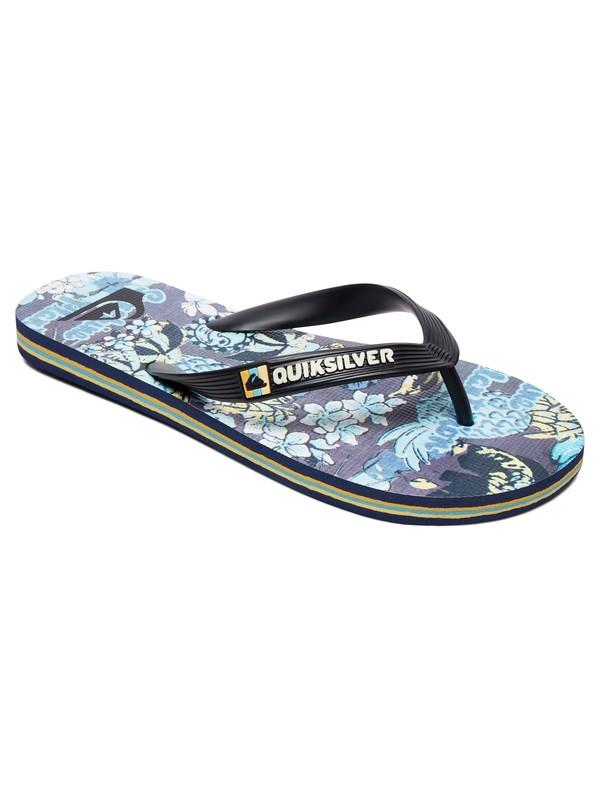 0 Boy's 8-16 Boys Molokai Tropics Flip-Flops Black AQBL100434 Quiksilver