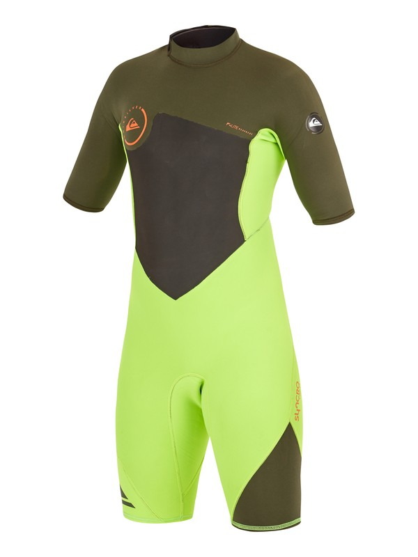 0 Syncro Flatlock 2/2mm - Springsuit manches courtes Back Zip  AQBW503003 Quiksilver