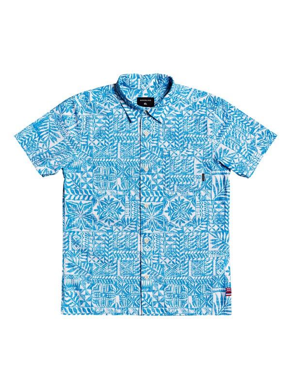 0 Boy's 8-16 HI Hyper Printed Short Sleeve Shirt White AQBWT03034 Quiksilver