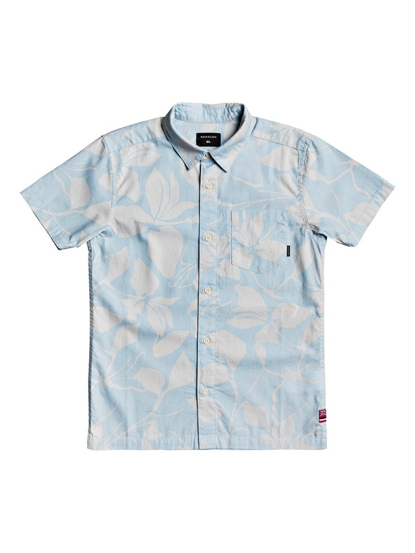 0 Boy's 8-16 HI Makala Short Sleeve Hawaiian Shirt White AQBWT03035 Quiksilver