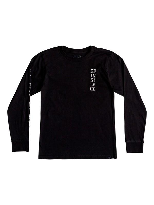 0 Boy's 8-16 Bone Party Long Sleeve Tee Black AQBZT03417 Quiksilver