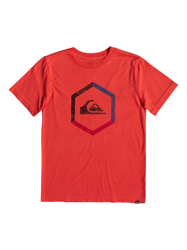 0 Boy's 8-16 Multi Hex Tee Red AQBZT03458 Quiksilver