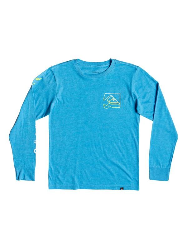 0 Boy's 8-16 Quik Distortion Long Sleeve Tee Blue AQBZT03469 Quiksilver