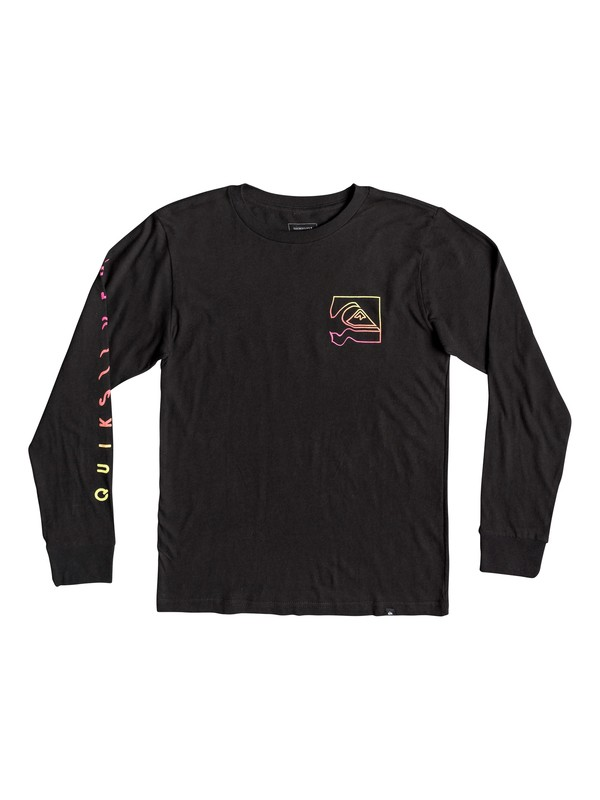 0 Boy's 8-16 Quik Distortion Long Sleeve Tee Black AQBZT03469 Quiksilver