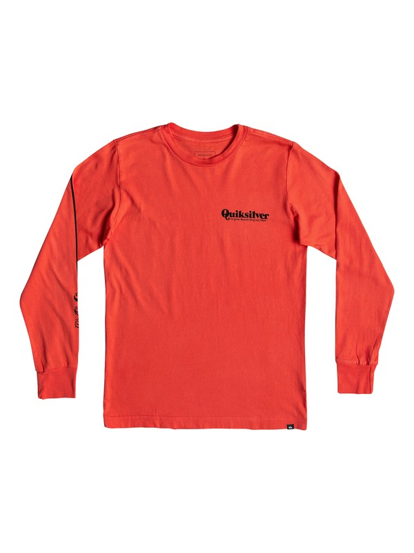 0 Boy's 8-16 Fineline Long Sleeve Tee Red AQBZT03471 Quiksilver