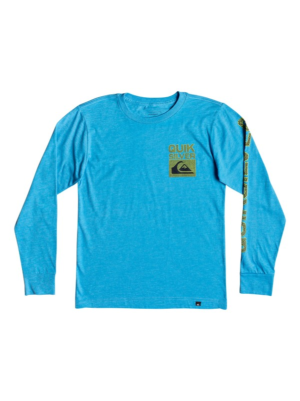 0 Boy's 8-16 Pixel Screen Long Sleeve Tee Blue AQBZT03472 Quiksilver
