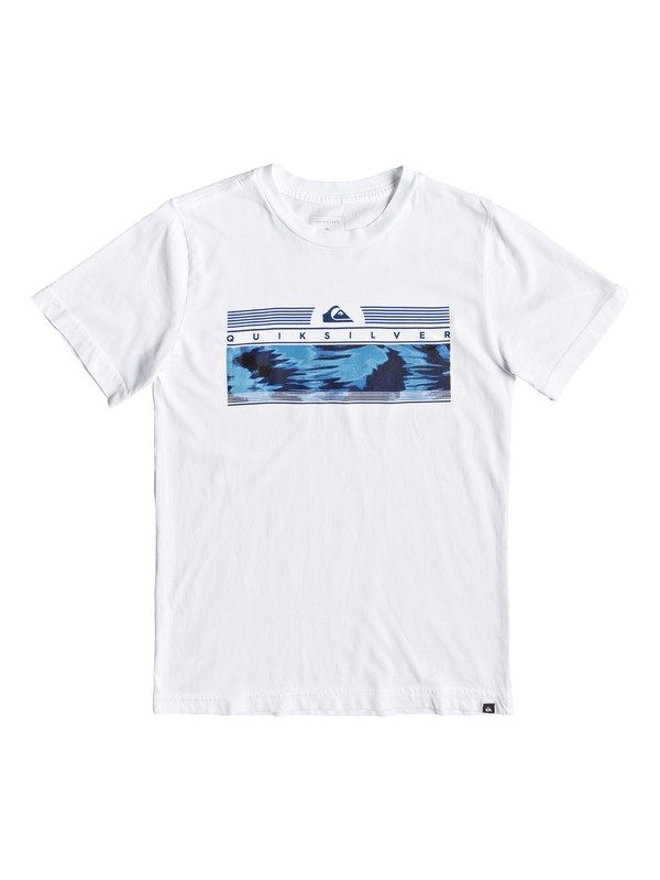 0 Boy's 8-16 The Jungle Tee White AQBZT03513 Quiksilver