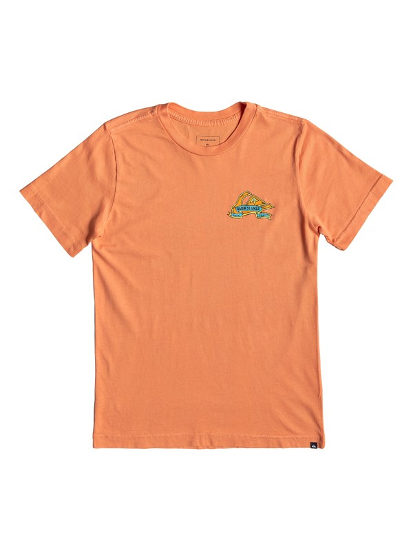 0 Boy's 8-16 Tattered Tee Orange AQBZT03517 Quiksilver