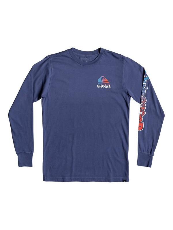 0 Boy's 8-16 Rebel Yell Long Sleeve Tee Blue AQBZT03529 Quiksilver