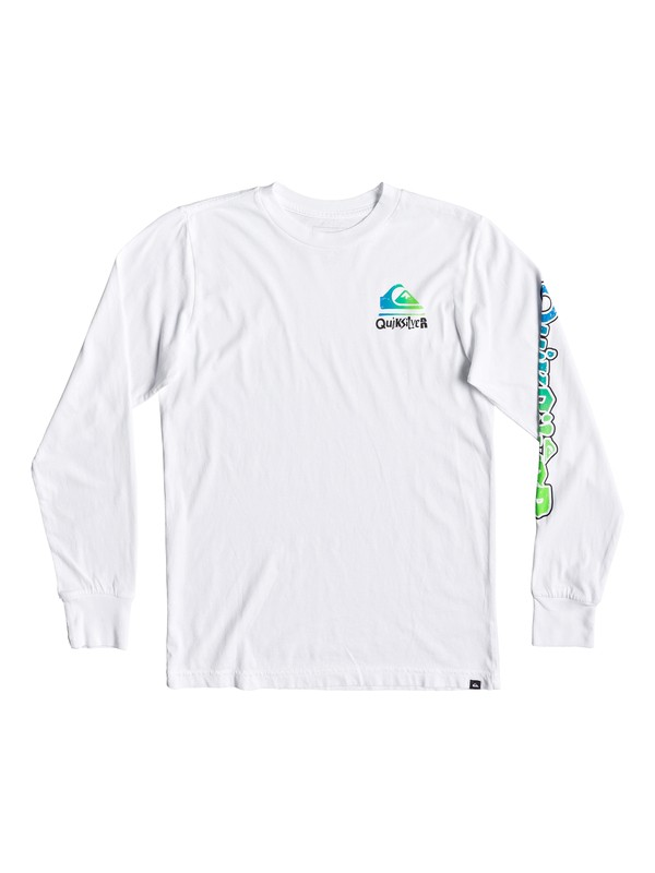 0 Boy's 8-16 Rebel Yell Long Sleeve Tee White AQBZT03529 Quiksilver