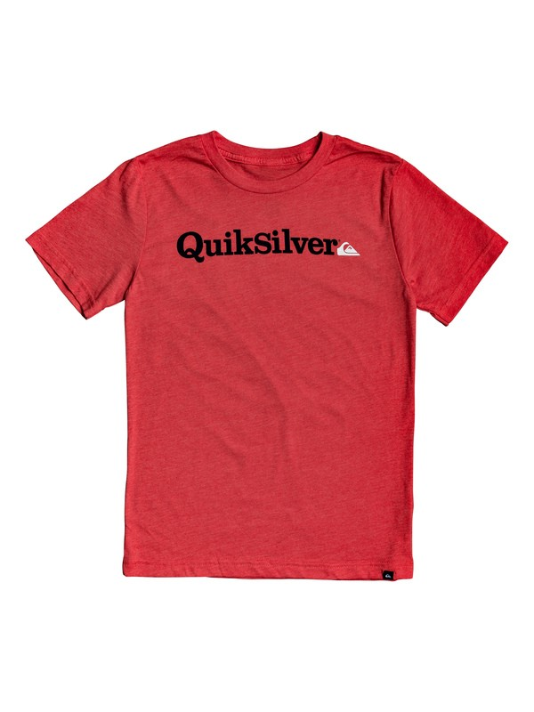 0 Boy's 8-16 Fraction Of Mind Tee Red AQBZT03565 Quiksilver