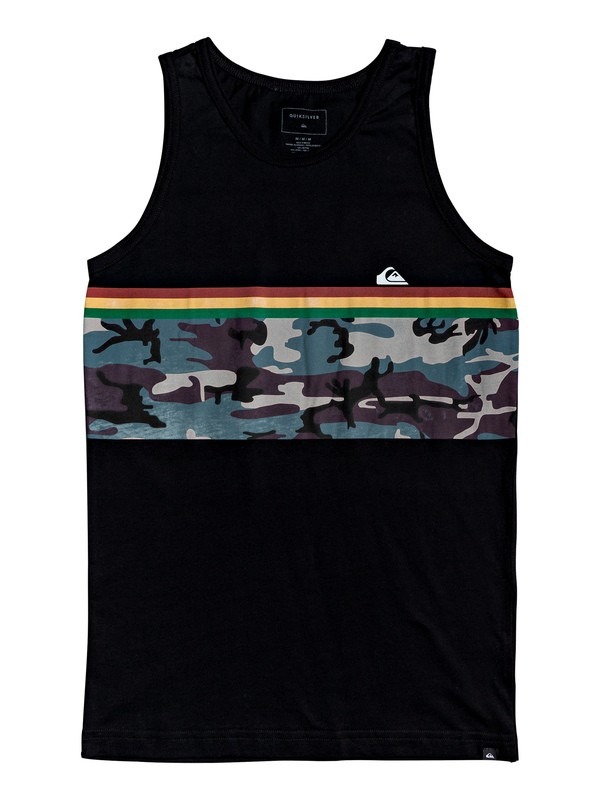 0 Boy's 8-16 Down Under Tank Black AQBZT03577 Quiksilver