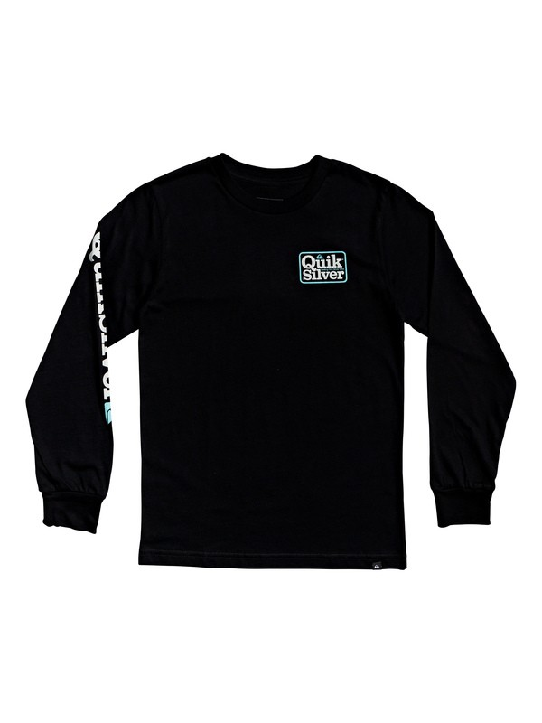 0 Camiseta de Manga Larga - Born Adventurer Negro AQBZT03579 Quiksilver