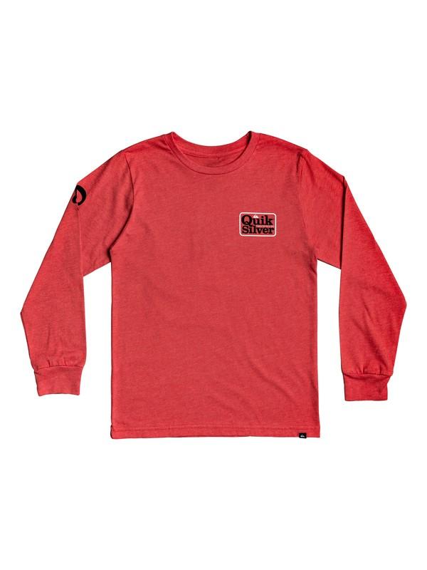 0 Camiseta de Manga Larga - Born Adventurer Rojo AQBZT03579 Quiksilver