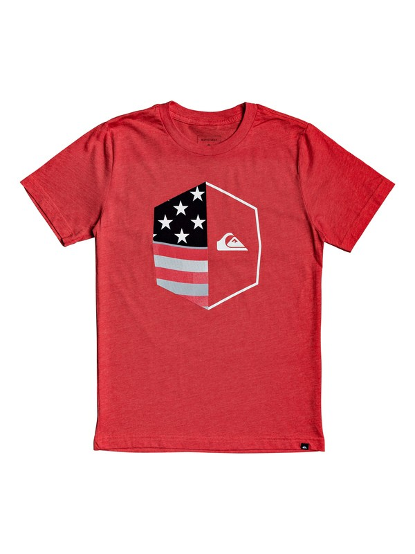 0 Boy's 8-16 Americana Tee Red AQBZT03581 Quiksilver