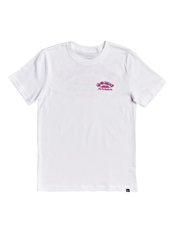 0 Boy's 8-16 Wave Count Tee White AQBZT03610 Quiksilver
