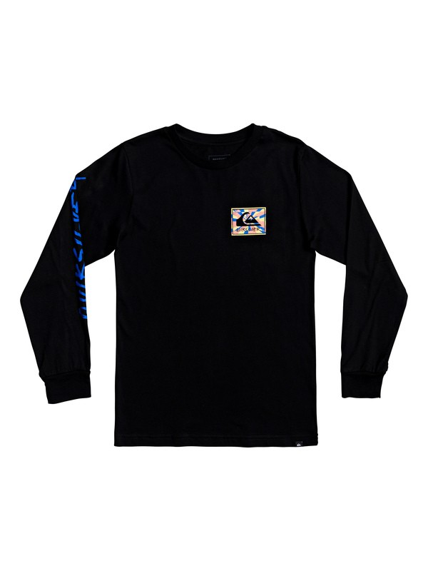 0 Boy's 8-16 Enlighted Tunnel Long Sleeve Tee Black AQBZT03619 Quiksilver
