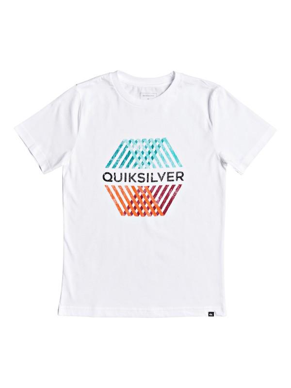 0 Boy's 8-16 Multi Hex Tee White AQBZT03687 Quiksilver