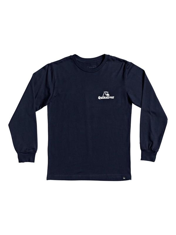 0 Boy's 8-16 Quik Lotus Long Sleeve Tee Blue AQBZT03704 Quiksilver