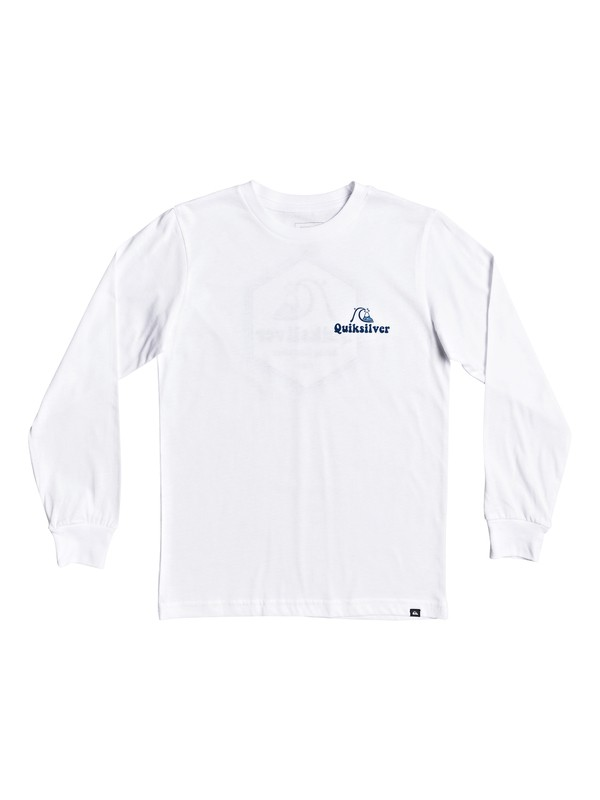 0 Boy's 8-16 Quik Lotus Long Sleeve Tee White AQBZT03704 Quiksilver