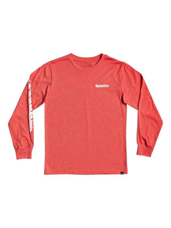 0 Boy's 8-16 Modern Script Long Sleeve Tee Red AQBZT03705 Quiksilver