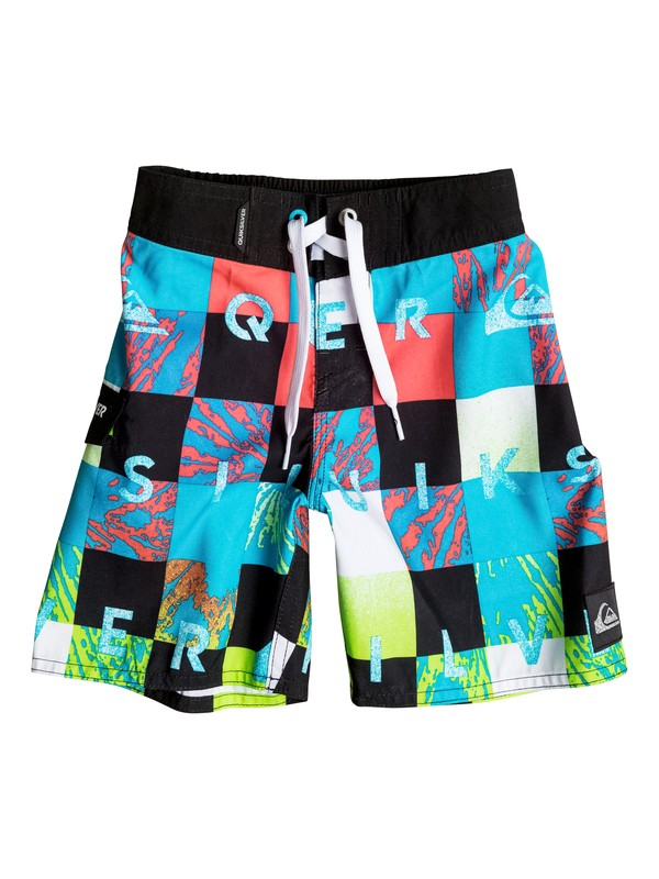 0 Boys 2-4 Check Remix Boardshorts  AQKBS03035 Quiksilver