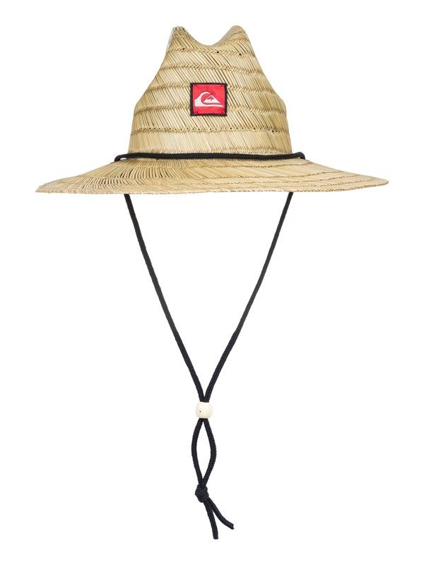 0 Pierside Straw Lifeguard Hat Yellow AQKHA03072 Quiksilver